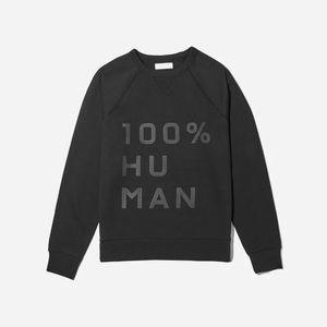 Everlane Men's The 100% Human Typography Pullover Sweatshirt
